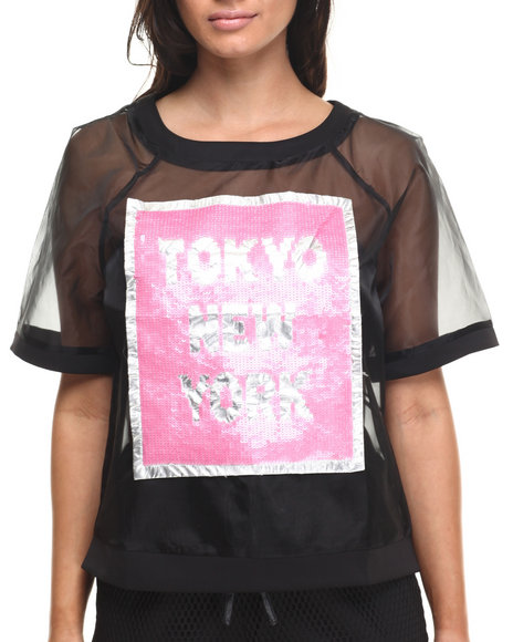 Street Style - Women Black Tokyo To New York Top