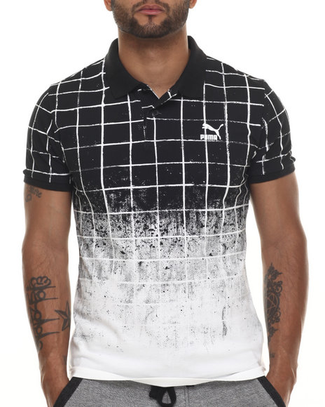 Puma - Men Black Dip - Grip S/S Polo