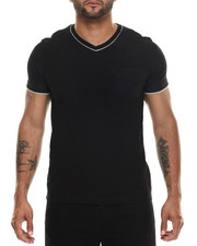 Men - Double Layer V-neck s/s tee