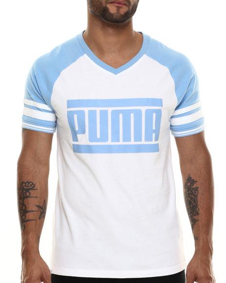Ur-ID 216511 Puma - Men White Signature Varsity S/S Tee