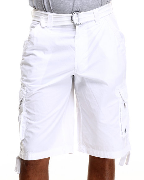 Buyers Picks - Men White Special Ops Cargo Shorts