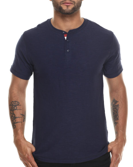 Ur-ID 216540 Buyers Picks - Men Navy Prez Henley S/S Tee