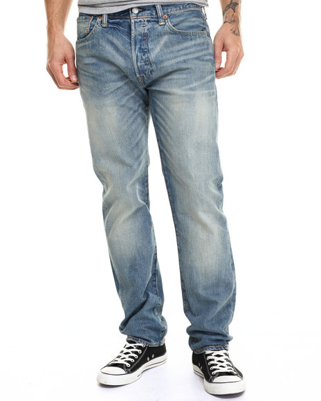 Levi's - Men Medium Wash 501 Original Fit Strybing Jeans