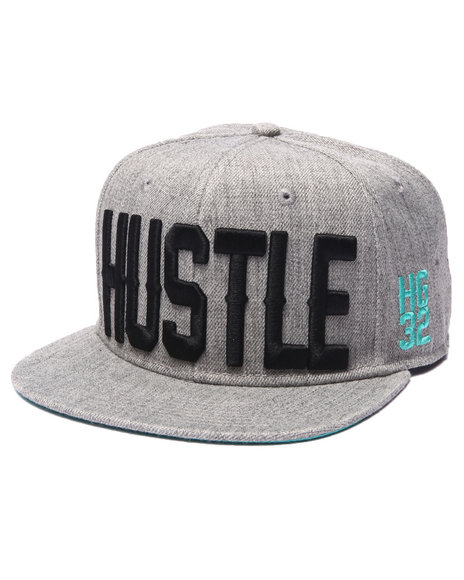 Hustle Gang Men Hustle Hg32 Snapback Cap Grey