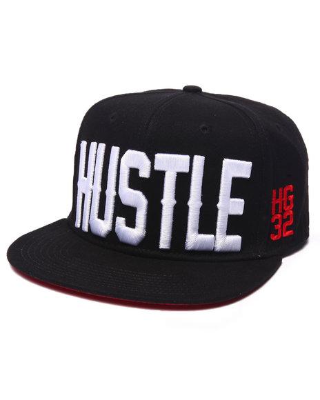 Hustle Gang Men Hustle Hg32 Snapback Cap Black - $40.00