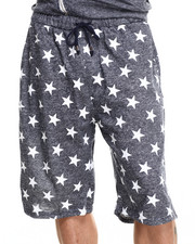 Men - French Terry All over Star Print Heather Shorts
