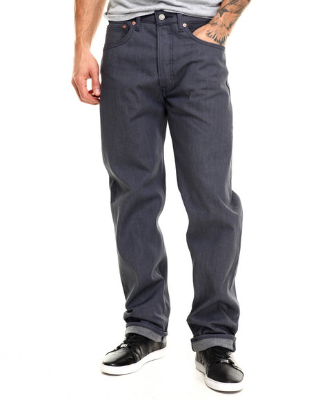Levi's - Men Grey 501 Shrink-To-Fit Indi Black Jeans