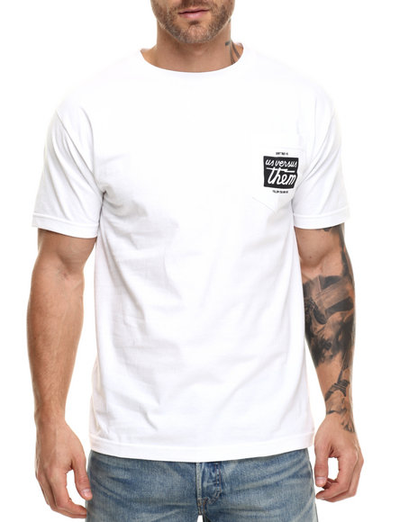 Us Versus Them - Men White Sanctuary Pocket Tee - $11.99