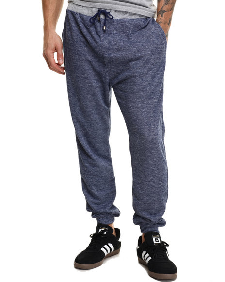 Buyers Picks - Men Navy French Terry Knit Jogger