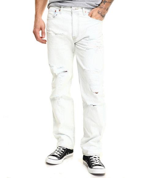Ur-ID 216560 Levi's - Men Light Wash 501 Original Fit Trashed Jeans