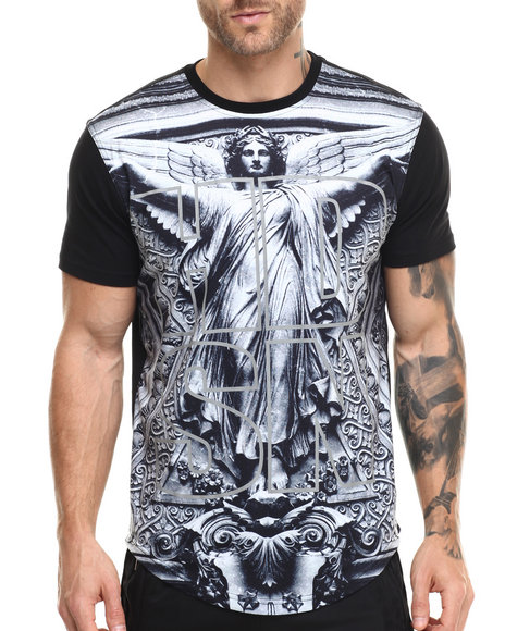 Hudson Nyc - Men Black From Above S/S Tee - $59.00