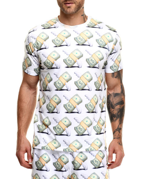 Hudson Nyc - Men White Money Flys S/S Tee