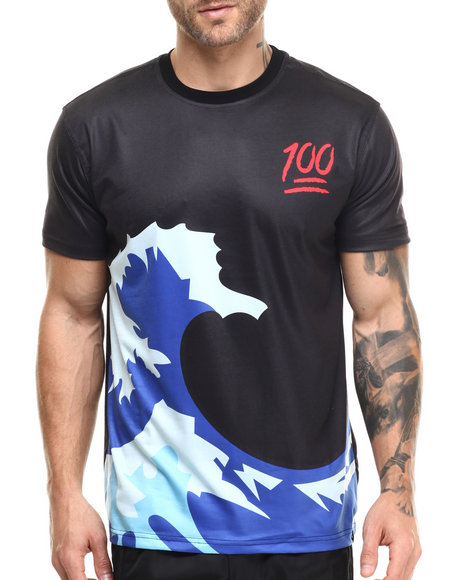 Ur-ID 216566 Hudson NYC - Men Black Oversized Wave S/S Tee