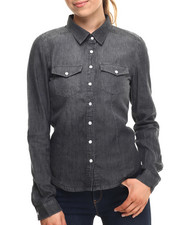 Polos & Button-Downs - Denim Western Shirt