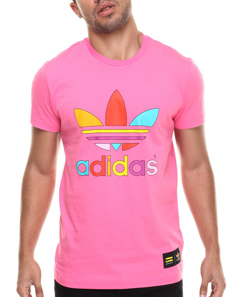 Adidas - Men Pink Supercolor By Pharrell Trefoil S/S Tee - $30.00