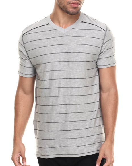 Buyers Picks - Men Grey T-Beone V Neck S/S Tee
