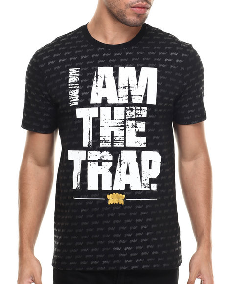 S - M - W - Men Black I Am The Trap S/S Tee
