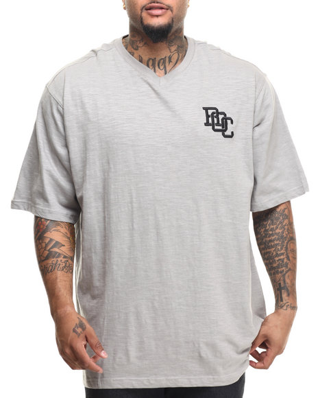 Rocawear - Men Grey Slub S/S V-Neck Tee (B&T)