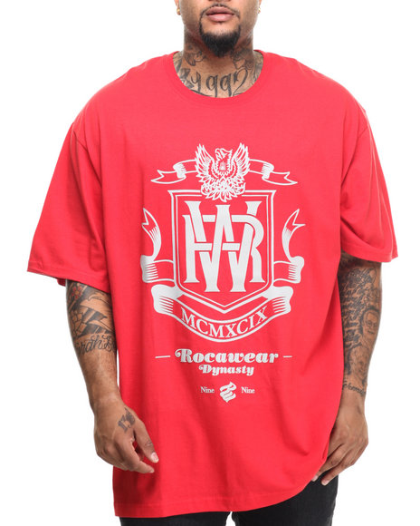 Rocawear - Men Red Roc Dynasty Tee (B&T) - $26.99