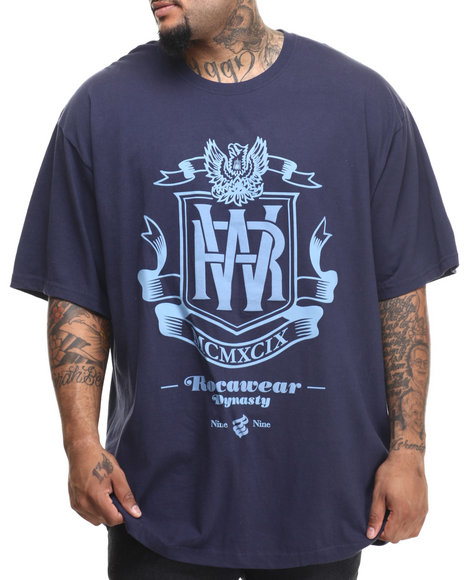 Rocawear - Men Navy Roc Dynasty Tee (B&T) - $32.50