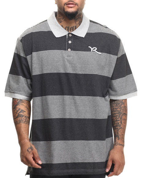 Rocawear - Men Grey Striped Polo (B&T)
