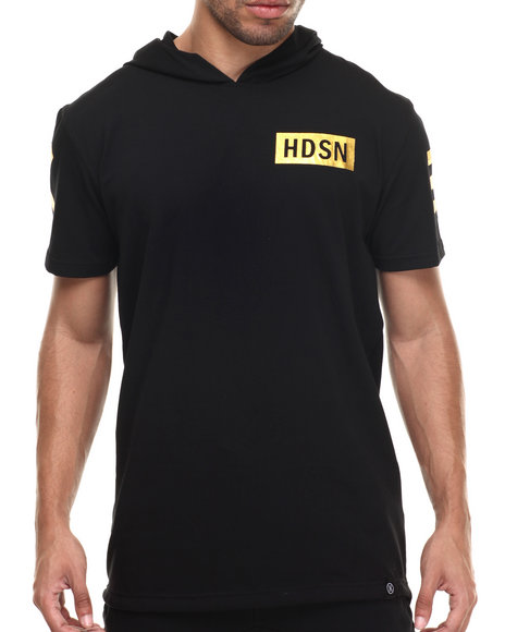 Hudson Nyc - Men Black X X I I I Elongated Hooded Shirt