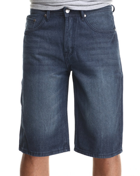 Akademiks - Men Indigo Whitehall Denim Shorts