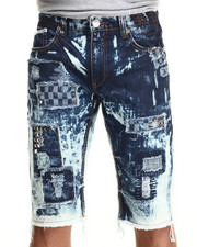 Men - Studded Distressed Denim Shorts