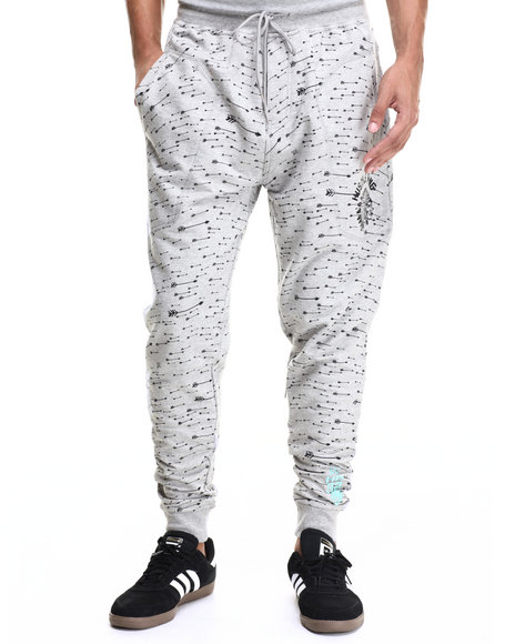 Ur-ID 216643 Hustle Gang - Men Grey,Turquoise Outpace Jogger Sweatpants