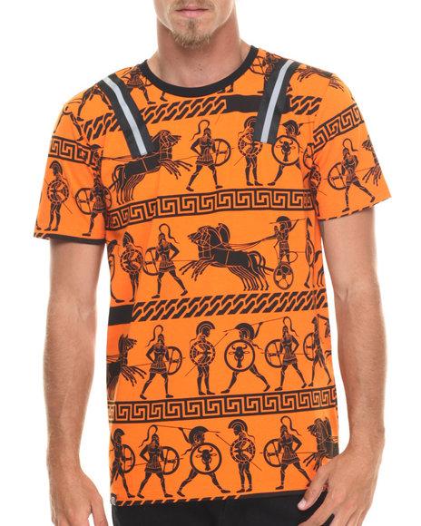 Ur-ID 216673 Buyers Picks - Men Orange 3M Hyroglifics Print S/S Tee