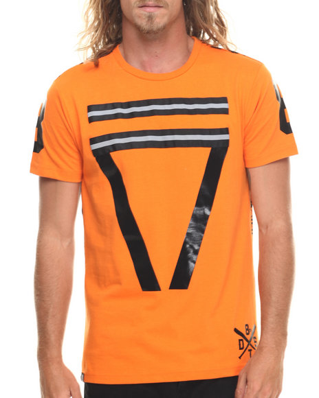 Ur-ID 216675 Buyers Picks - Men Orange Hyroglifics N 3M S/S Tee
