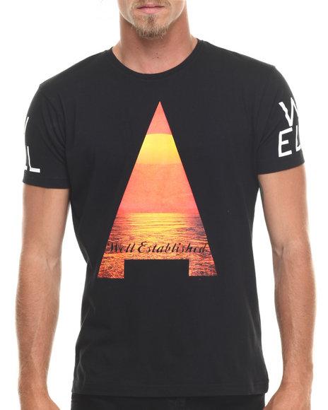 Ur-ID 216676 Well Established - Men Black Pyramid S/S Tee