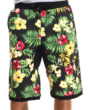 Men - Linn Tropical Print drawstring shorts