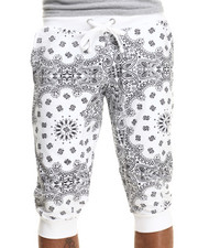 Men - E40 Bandana print jogger shorts