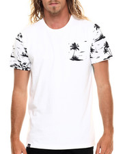 Buyers Picks - Palm Tree print s/s pocket tee