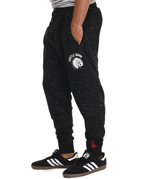 Ur-ID 216704 Hustle Gang - Men Black Outpace Jogger Sweatpants