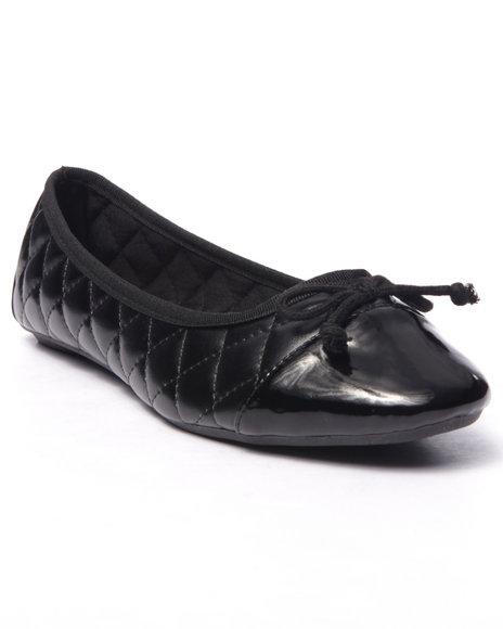 Ur-ID 216670 Fashion Lab - Women Black Lotus Comfort Flex Ballet Flat