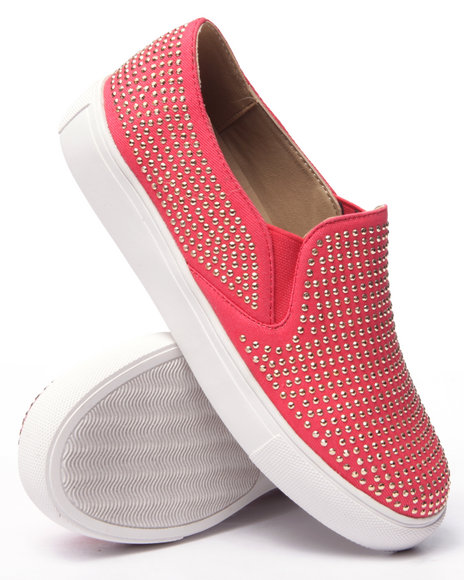 Ur-ID 216722 Fashion Lab - Women Coral Shea Bling Slip On Sneaker