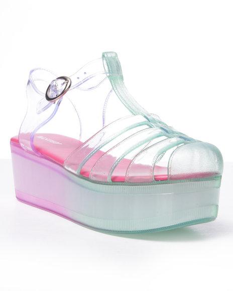 Ur-ID 216728 Fashion Lab - Women Green,Pink Icepop Sandals