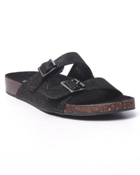 Ur-ID 216730 Fashion Lab - Women Black Cujo Slip On Sandals