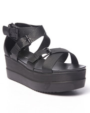 Fashion Lab - Twizzler Strap Platform Sandals