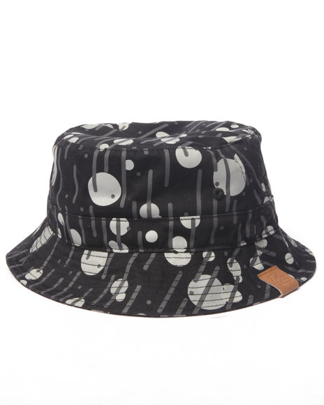 Ur-ID 216765 Pink Dolphin - Men Black Rain Camo Bucket