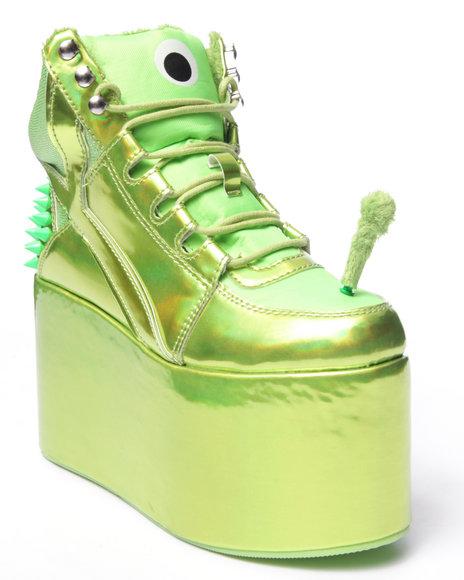 Ur-ID 216777 Y.R.U. - Women Green Qozmo Alien Platform Sneaker