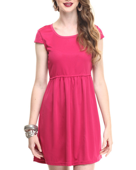 Fashion Lab - Women Dark Pink Junior Solid Dress - $7.99