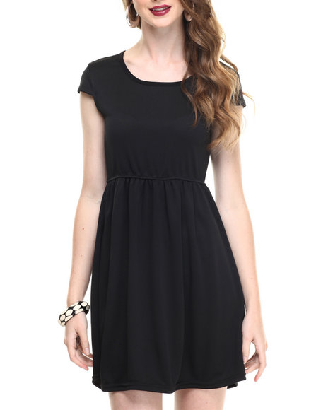 Fashion Lab - Women Black Junior Solid Dress