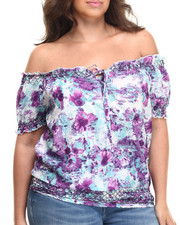 Women - Gabriella Woven Printed Top (plus)
