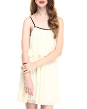 Fashion Lab - Jr. Pleated Chiffon Dress