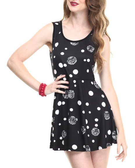 Fashion Lab - Women Black Jr. Printed Dress - $7.99