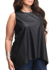 Tops - Plus Size Mixed Media Top