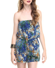 Jumpsuits - Water Color Strapless Romper